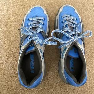 Blue Teva Tennis Shoes. NWOT Sz 6